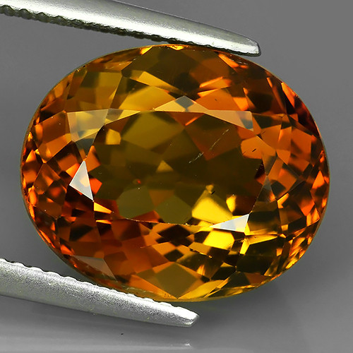 13.30 cts Excellent oval cut Brazilian Champion Topaz Gemstone