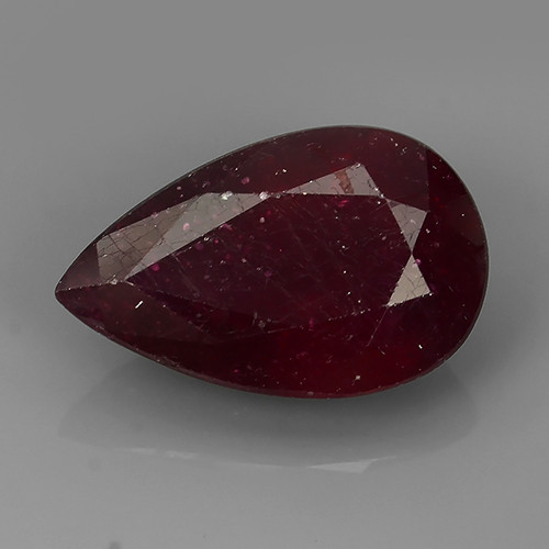 7.15 cts Gorgeous!Jumbo!pear Facet Top Blood Red Natural Ruby Madagascar!