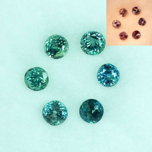 0.48Cts Natural Alexandrite Round 2.50mm Parcel