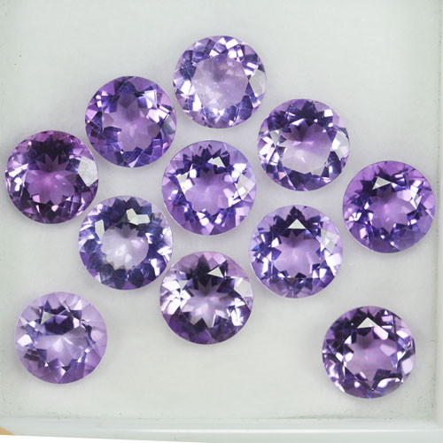 35.33Ct Natural Purple Amethyst Round 10mm Parcel Brazil