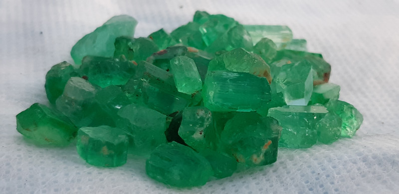 90 Carat and Very Nice Color Afghan Emeralds parcel AD02