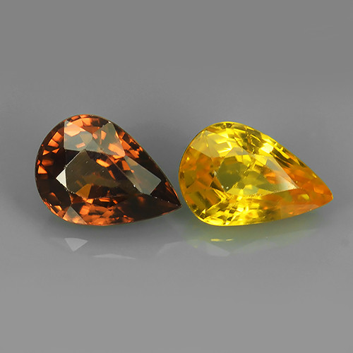 4.25 CtS ATTRACTIVE ULTRA RARE NATURAL YELLOW-PINK ZIRCON EXECLLENT!!