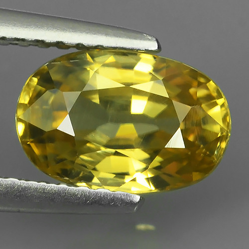 2.80 CTS DAZZLING NATURAL RARE TOP LUSTER INTENSE YELLOW ZIRCON GEM!