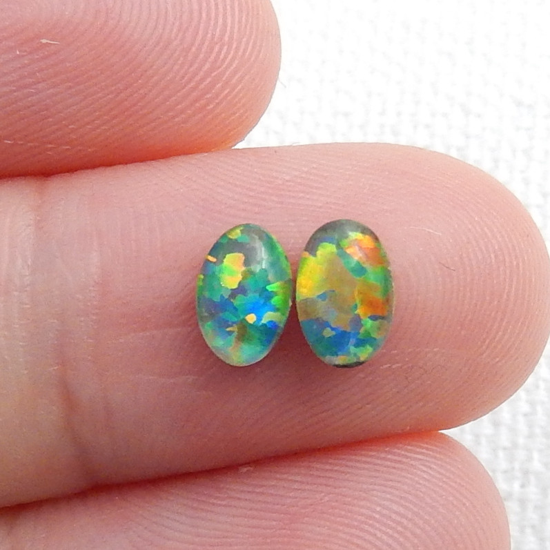 Amazing Natural Fire Opal Cabochon Pairs ,Opal For Jewelry Making C477