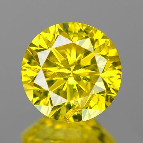 0.44 Cts Fancy Vivid Greenish yellow Color Natural Loose Diamond