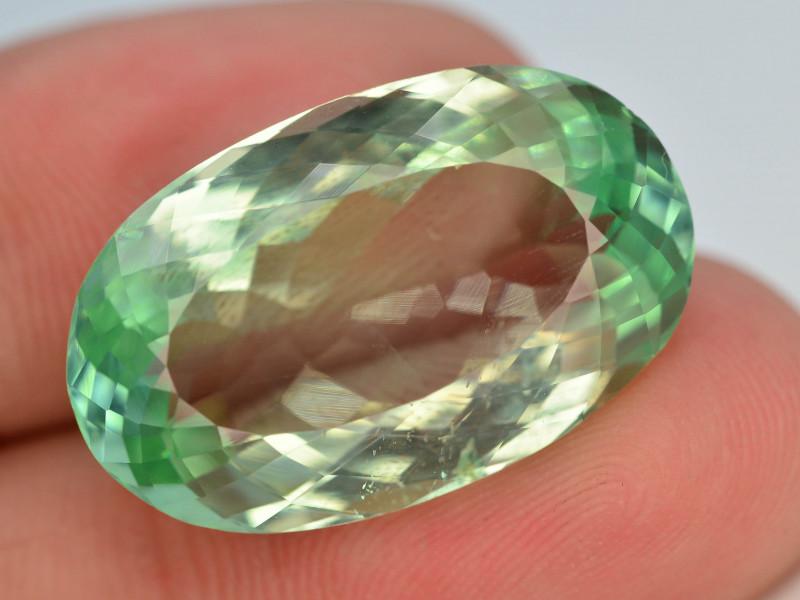 19.35 Ct Green Spodumene Gemstone From Afghanistan~ AA