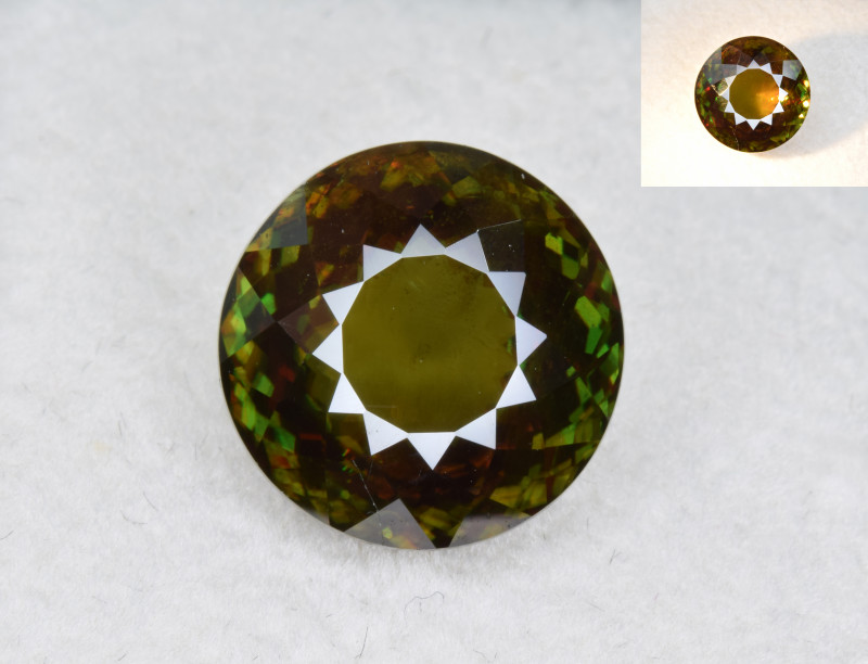 Natural Color Changing Chrome Sphene 8.78 Cts from Skardu, Pakistan