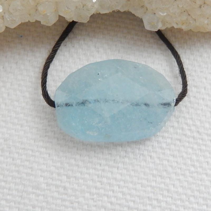 Tiny Aquamarine Pendant Bead ,Handmade Gemstone , Jewelry Making C508