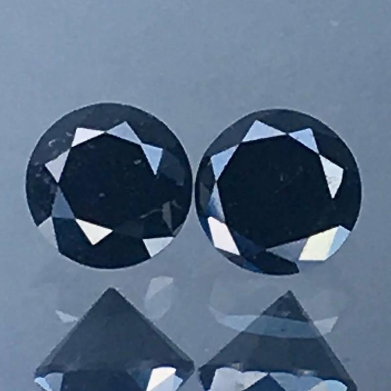 Pair Natural Black Diamonds - 0.61 ct