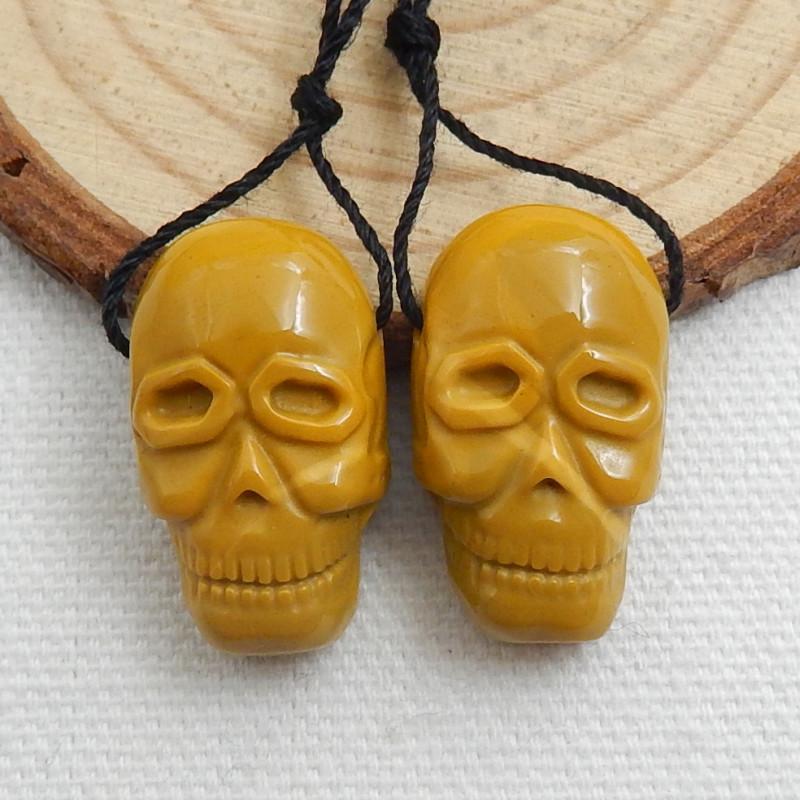 Carving Mookite Jasper Skull Figurine Gemstone Carving C535