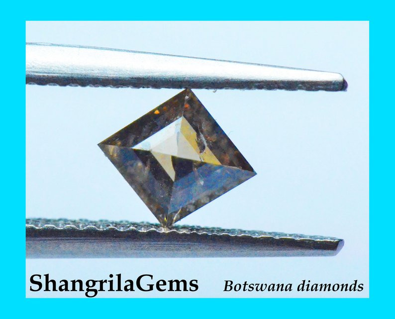 6.72mm 0.5ct Rich brown diamond untreated fully traceable from Botswana