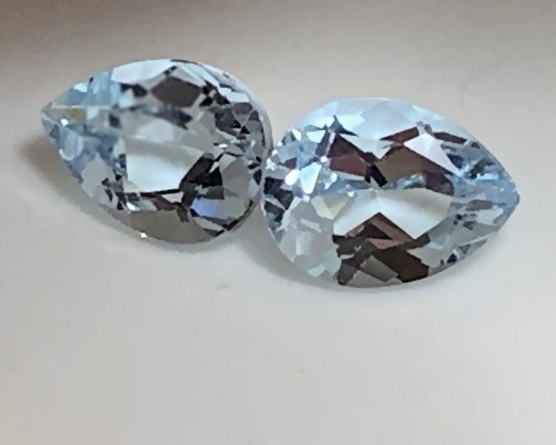 ⭐Aquamarine Pair 8.0 X 6.0mm VVS gems