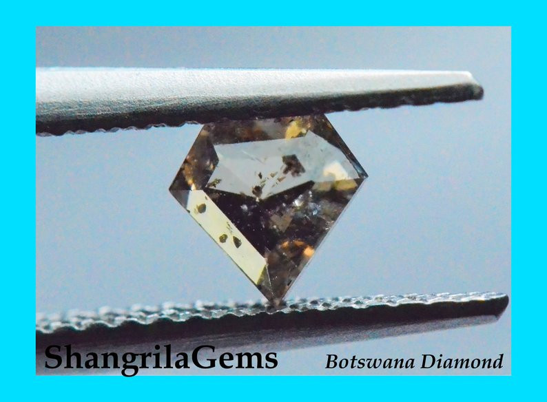 4.85mm 0.49ct brown champagne diamond shield