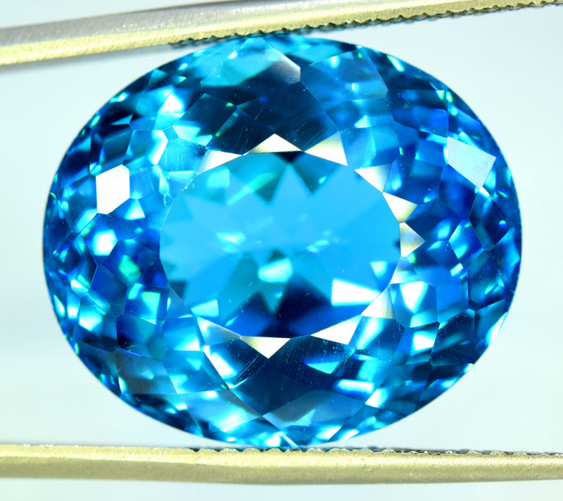 47.90 cts Electric Blue Color Topaz Gemstone
