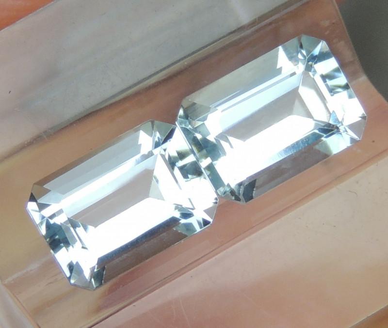 7X5mm  Aquamarine Octagon
