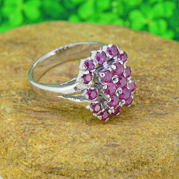 Natural Ruby 925 Sterling Silver Ring SIZE 6  (SSR0047)