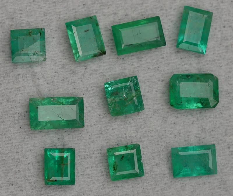 3 35 Crt Parcels 10 Pcs Stunning Green Zambian Emerald