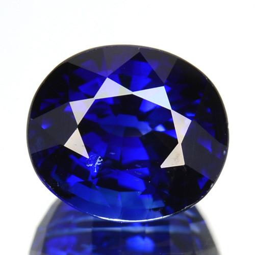 2.28 Cts Natural Corundum Sapphire Royal Blue Oval Cut Madagascar Gem