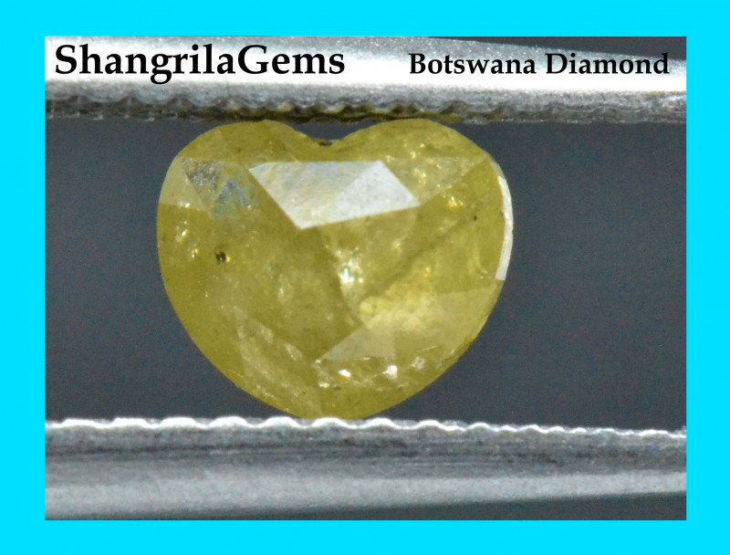 6.1mm 0.68ct Yellow Heart shape diamond natural and untreated