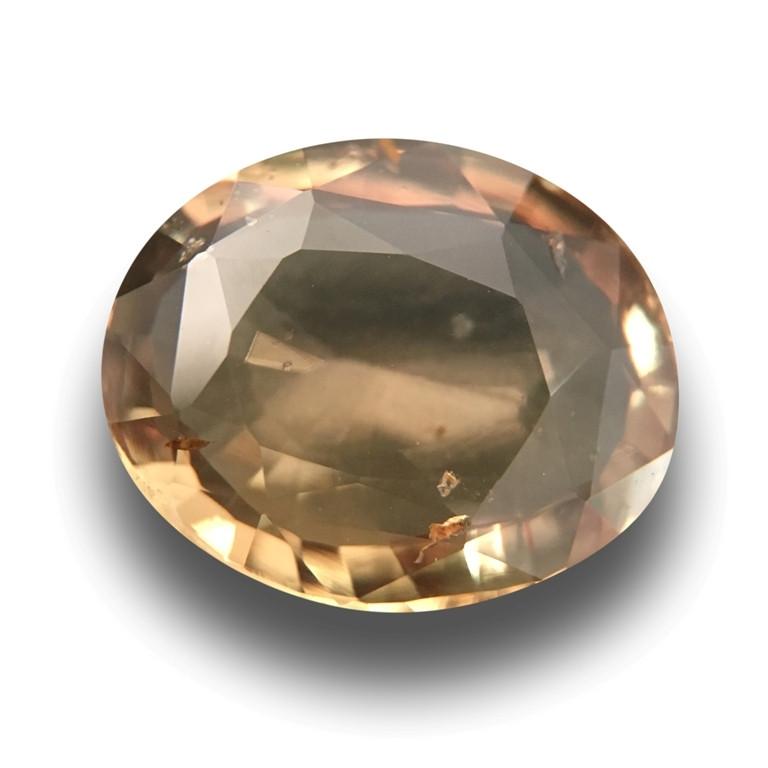 Natural Green Orange sapphire |Loose Gemstone|Srilanak - New