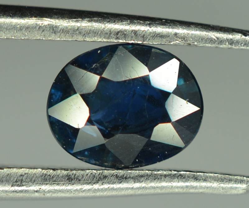 0.70 Cts Blue Sapphire Oval Shape From Africa ( Heated )