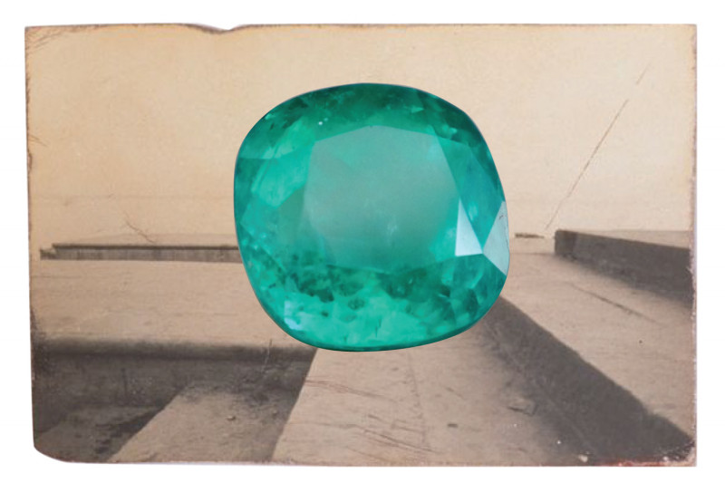 15ct Colombian Emerald Loose Gem GRS
