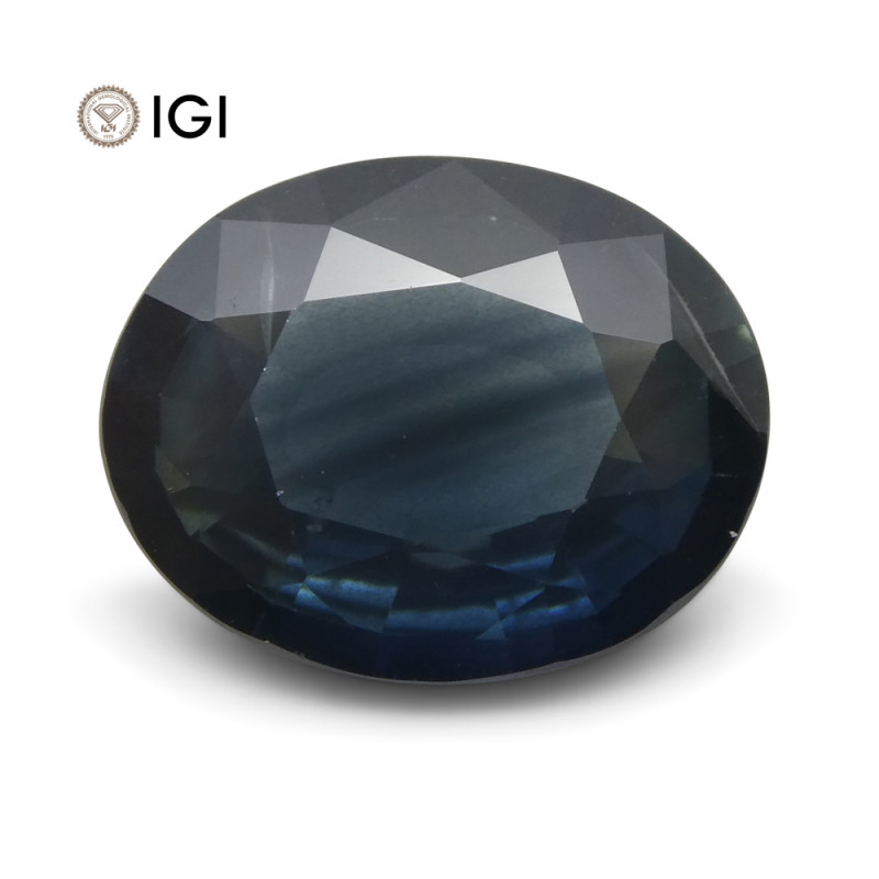 4.06 ct Blue Sapphire Oval IGI Certified Ethiopian, Unheated