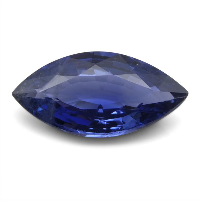 2.31 ct Blue Sapphire Marquise IGI Certified Sri Lankan