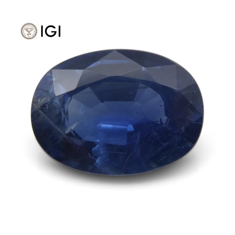 2.78 ct Blue Sapphire Oval IGI Certified Tanzanian