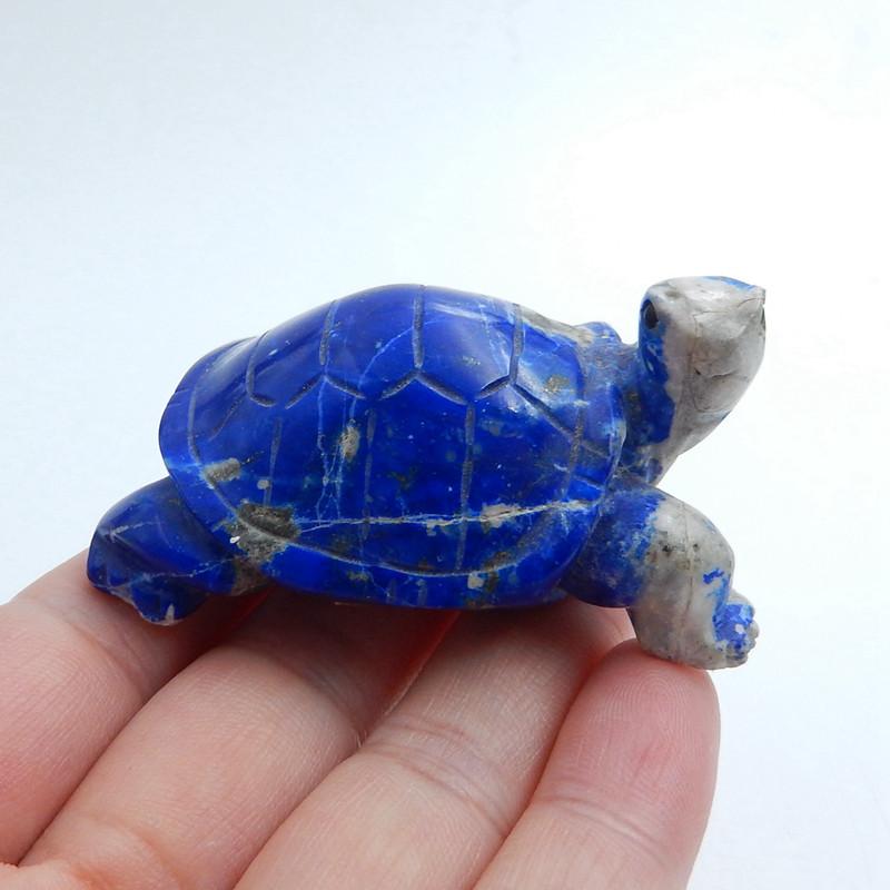 Great Craft Handmade Lapis Lazuli Carved tortoise Cabochon H5702