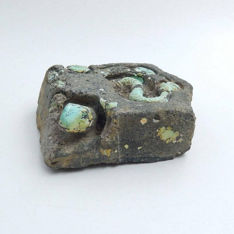 Handmade Carved Turquoise snake Cabochon, Animal Gemstone Decoration H5704