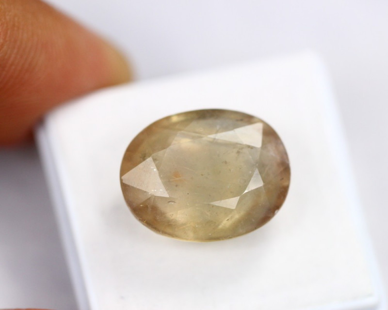 19.61Ct Light Yellow Sapphire Oval Cut Lot LZ3225