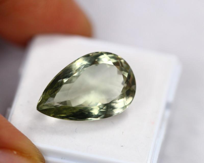 11.27Ct Natural Greenish Prasiolite Pear Cut Lot LZB567