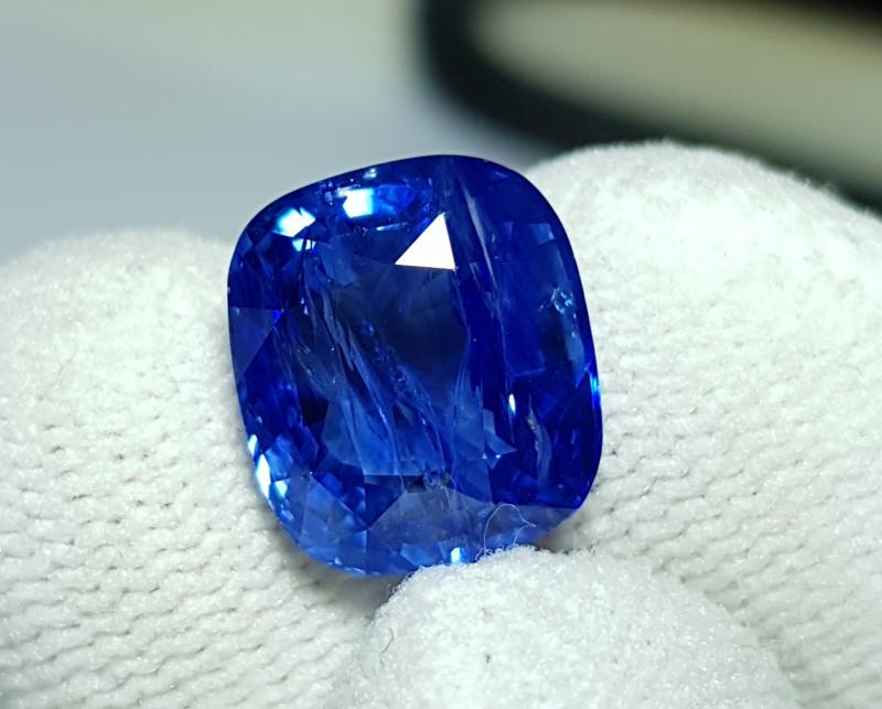 CERTIFIED 9.43 CTS NATURAL BEAUTIFUL CORNFLOWER BLUE SAPPHIRE SRI LANKA