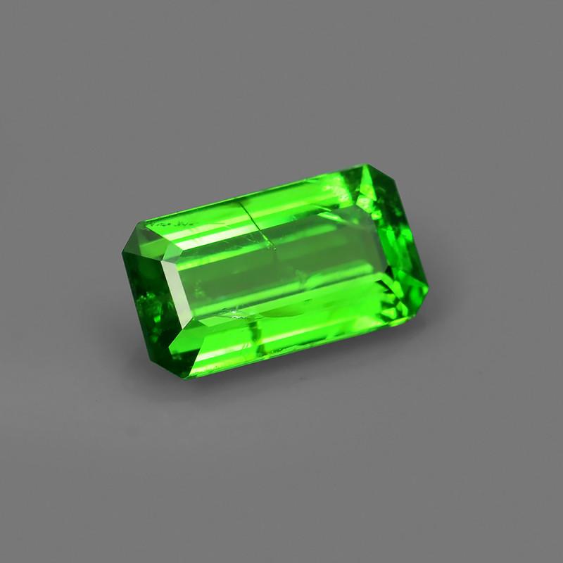 1.58CT NEON ELECTRIC GREEN RICH COLOR NATURAL TSAVORITE GARNET