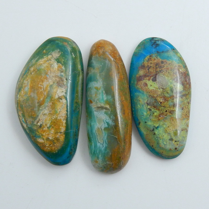 Natural Blue Opal Cabochon, October Birthstone, Blue Opal Bead C595