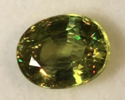 CERTIFIED Brilliant Sparks - Greenish Yellow Sphene -A259 G564 H684