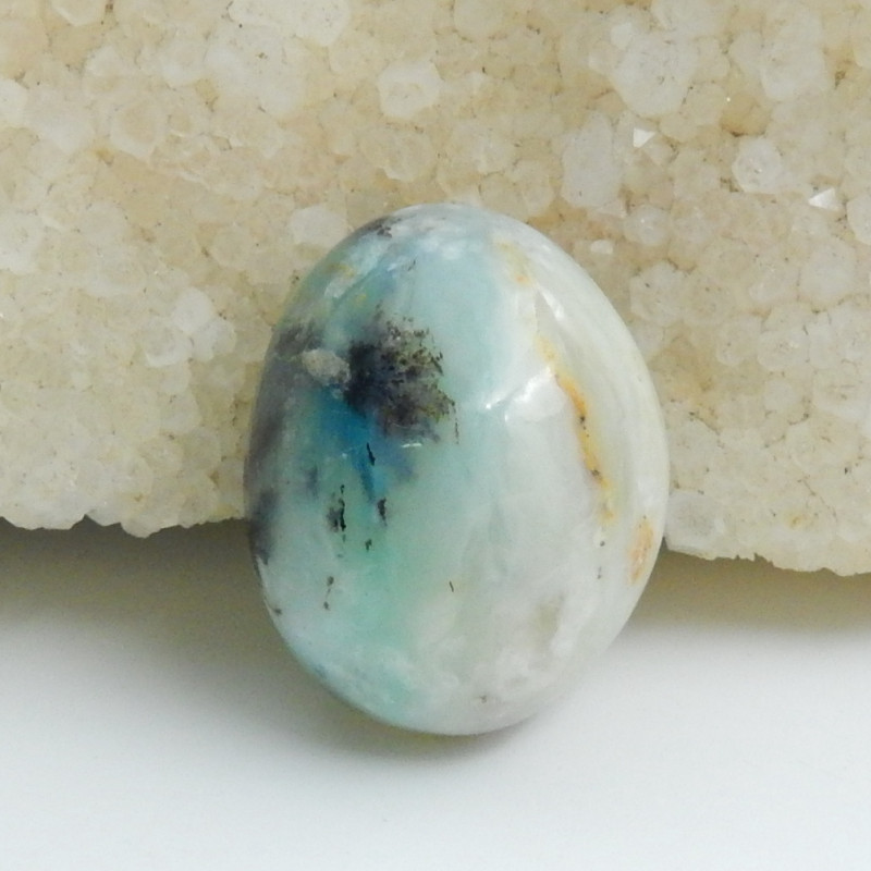 Sale Natural Blue Opal Cabochon, October Birthstone, Blue Opal Bead C587