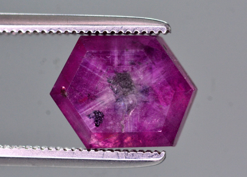 Rare 4.20 Ct Natural Corundum Sapphire Trapiche From Kashmir Valley. ATT2