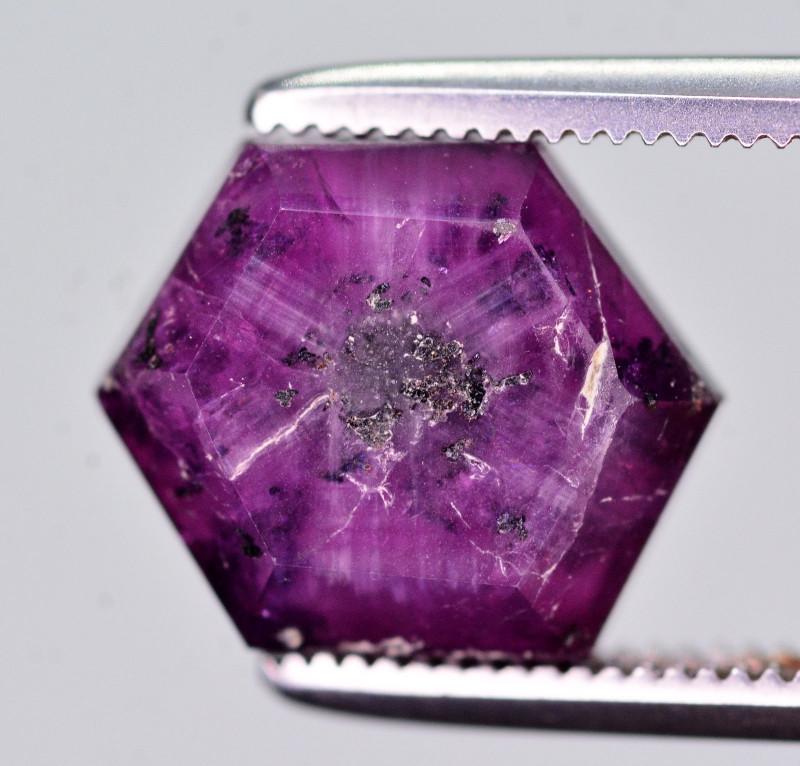 Rare 4.05 Ct Natural Corundum Sapphire Trapiche. ATT2