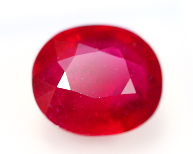 12.04Ct Blood Red Color Ruby Oval Cut Lot LZ2