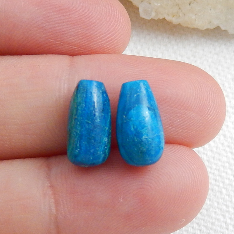 Blue Opal Cabochon Pairs, October Birthstone, Blue Opal Bead C618