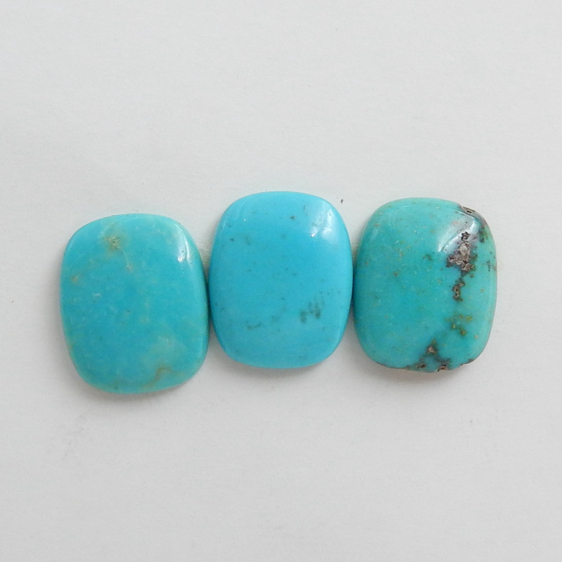 3pcs Natural Turquoise ,Handmade Gemstone ,Turquoise Cabochons ,Lucky Stone