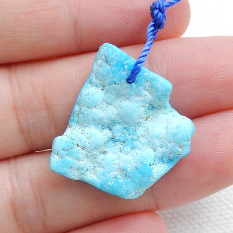 Nugget Turquoise Pendant ,Handmade Gemstone ,Turquoise Bead ,Lucky Stone C6