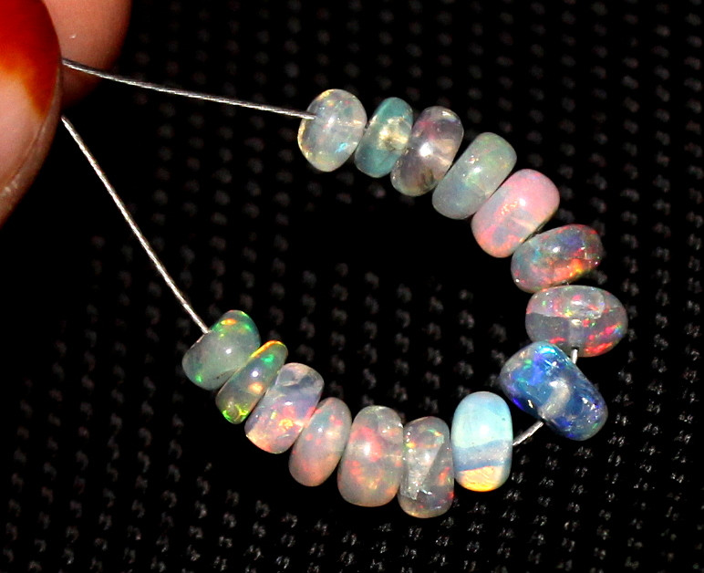 4.15 Crts Natural Ethiopian Welo Opal Beads Demi Strand 106