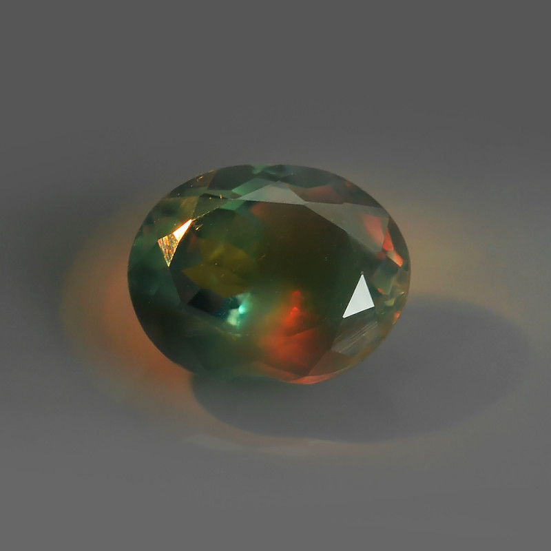 .82CT BLUE-GREEN to ORANGE-RED Natural ALEXANDRITE $1NR