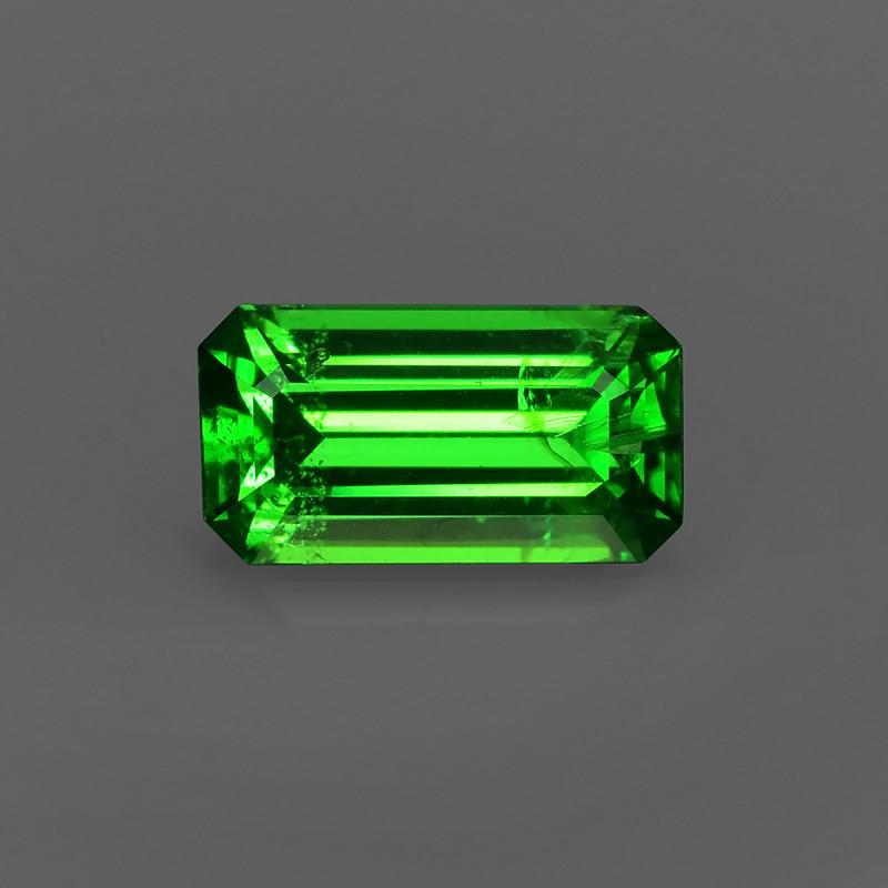 1.28CT ÜBER Hot ELECTRIC Color Emerald Cut TSAVORITE GARNET