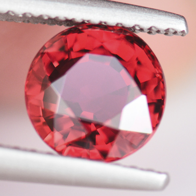 2.52CT 7.2mm SPARKLING & LIVELY ROUND CUT SONGEA RUBY (Be)