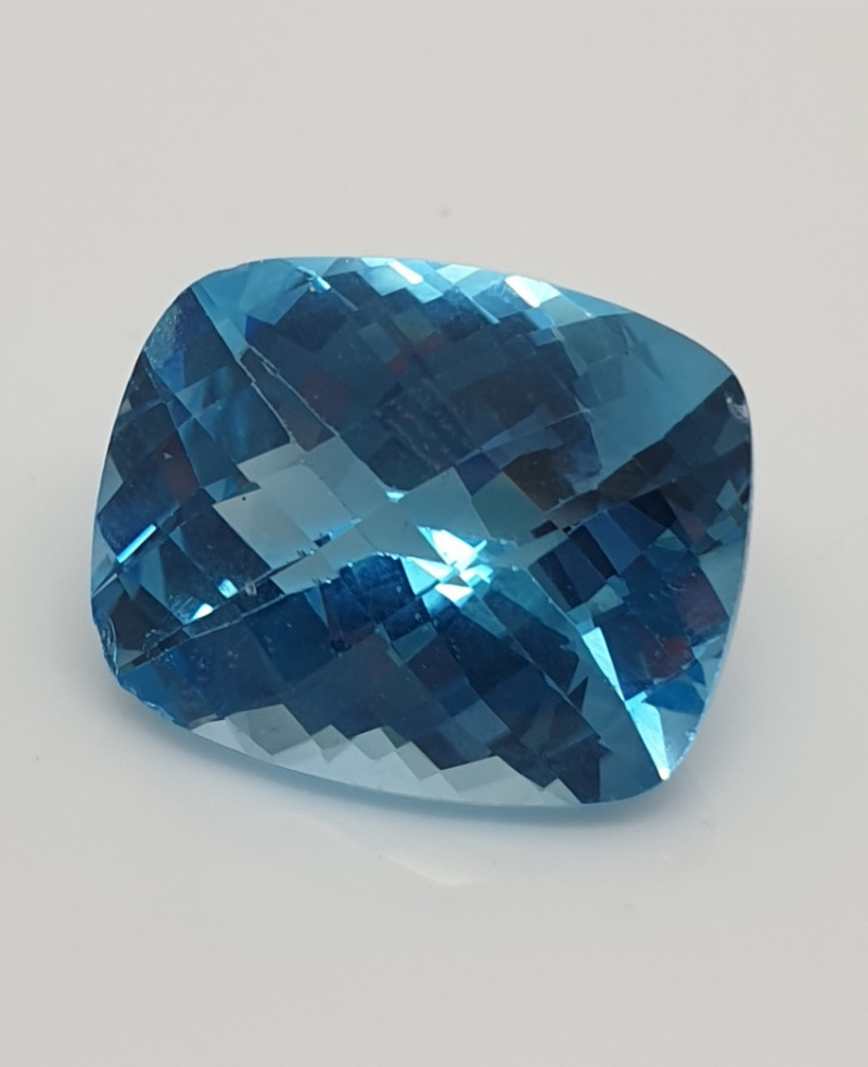 31.75 Ct Cushion Checkerboard  Baby Swiss Topaz 21.08x17.10mm(SKU 69)