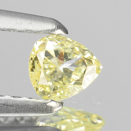 ~UNTREATED~ 0.19 Cts Natural Yellow Diamond Pear Cut Africa